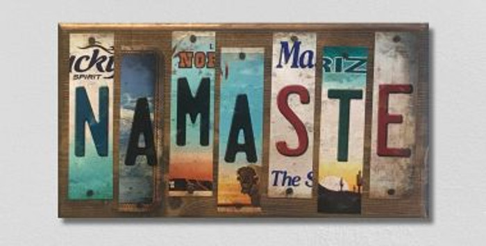 Namaste License Plate Strip Novelty Wood Sign WS-066