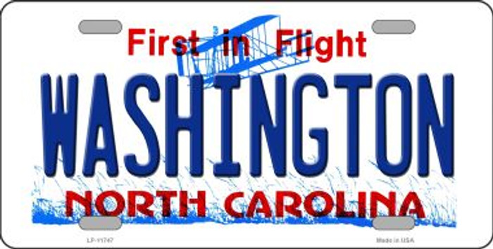 Washington North Carolina State Novelty License Plate LP-11747