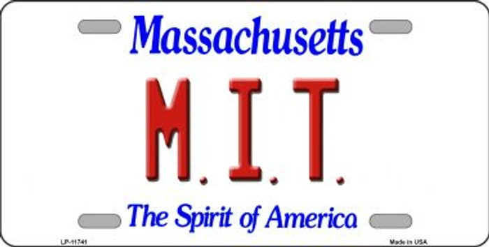 MIT Massachusetts Novelty State License Plate LP-11741