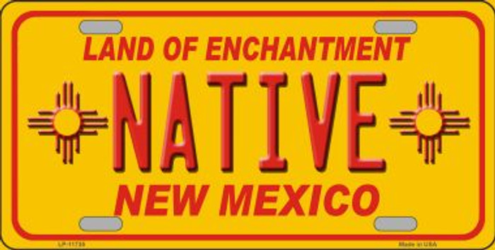 Native New Mexico Yellow Novelty State License Plate LP-11735