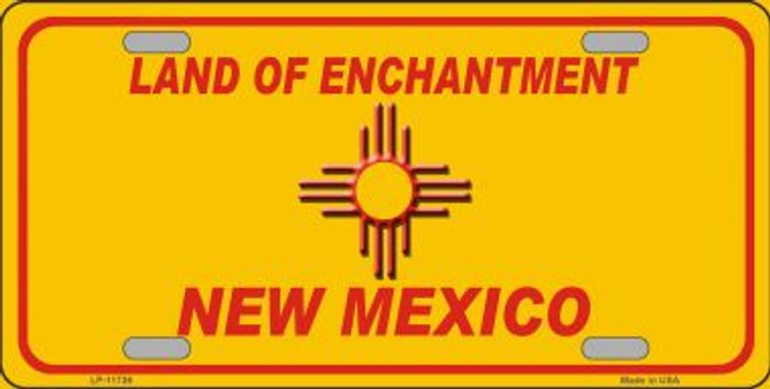New Mexico Blank Yellow Novelty State License Plate LP-11736
