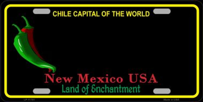 New Mexico Blank Black Novelty State License Plate LP-11751