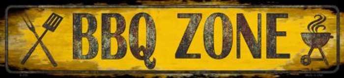BBQ Zone Novelty Small Street Sign K-728