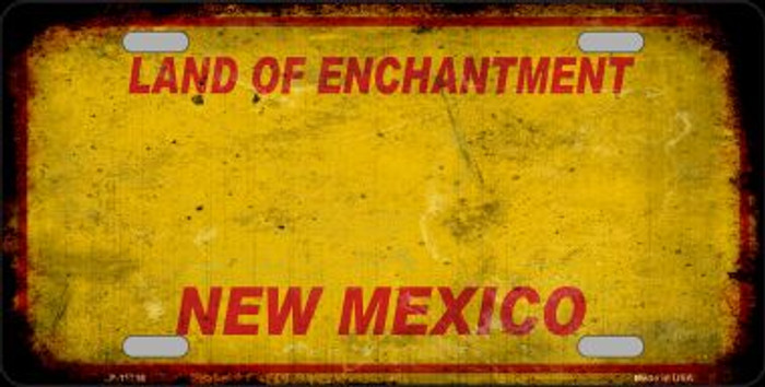 New Mexico Rusty Blank Novelty License Plate LP-11716