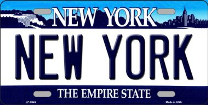 New York State Background Novelty Metal License Plate