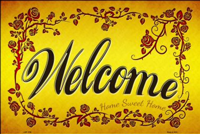 Welcome Grape Vines Novelty Large Parking Sign LGP-1735