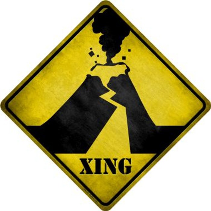 Volcano Xing Novelty Crossing Sign CX-317