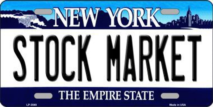 Stock Market New York Novelty Metal License Plate LP-3548
