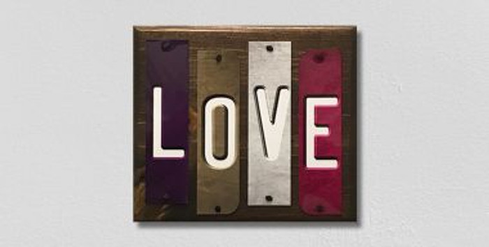 Love Fun Strips Novelty Wood Sign WS-114