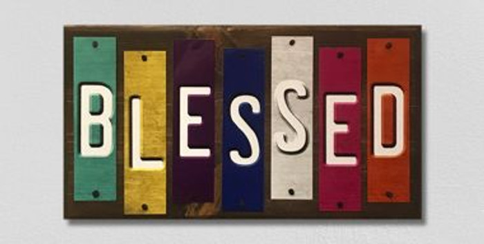 Blessed Fun Strips Novelty Wood Sign WS-125