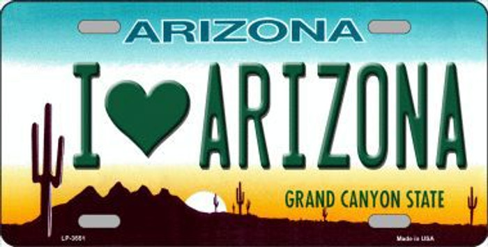 I Love Arizona Novelty Metal Novelty License Plate LP-3551
