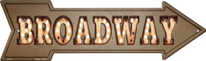 Broadway Bulb Letters Novelty Metal Arrow Sign A-431
