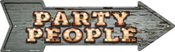 Party People Bulb Letters Novelty Metal Arrow Sign A-435