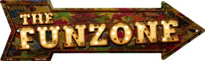 The Funzone Bulb Letters Novelty Metal Arrow Sign A-436