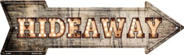 Hideaway Bulb Letters Novelty Arrow Sign A-444