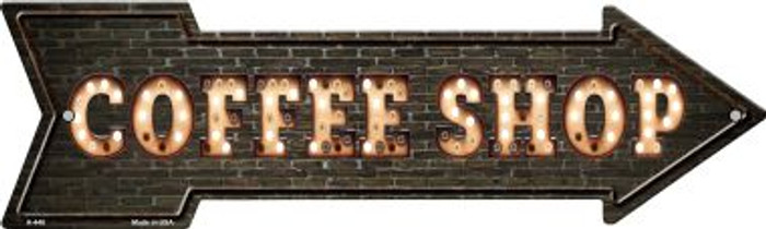 Coffee Shop Bulb Letters Novelty Arrow Sign A-448