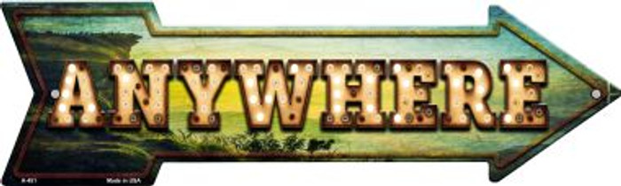 Anywhere Bulb Letters Novelty Arrow Sign A-451