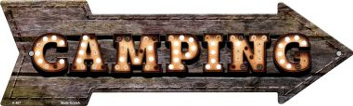 Camping Bulb Letters Novelty Arrow Sign A-467