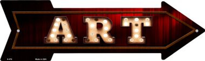 Art Bulb Letters Novelty Arrow Sign A-476