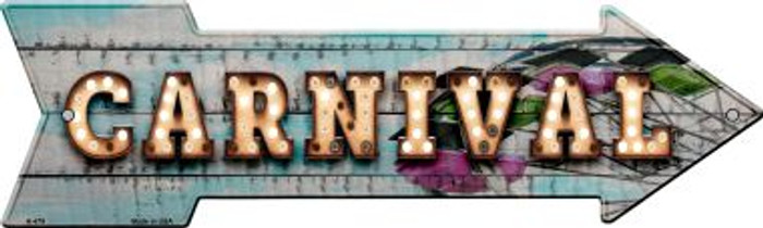 Carnival Bulb Letters Novelty Arrow Sign A-479