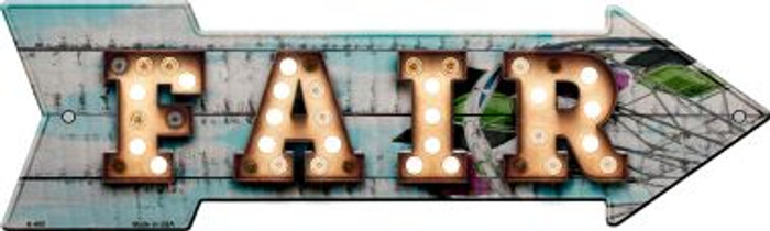 Fair Bulb Letters Novelty Arrow Sign A-480