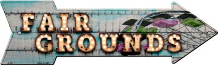Fair Grounds Bulb Letters Novelty Arrow Sign A-481