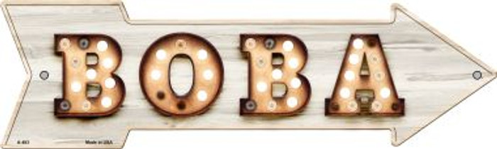 Boba Bulb Letters Novelty Arrow Sign A-483