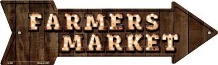 Farmers Market Bulb Letters Novelty Arrow Sign A-490