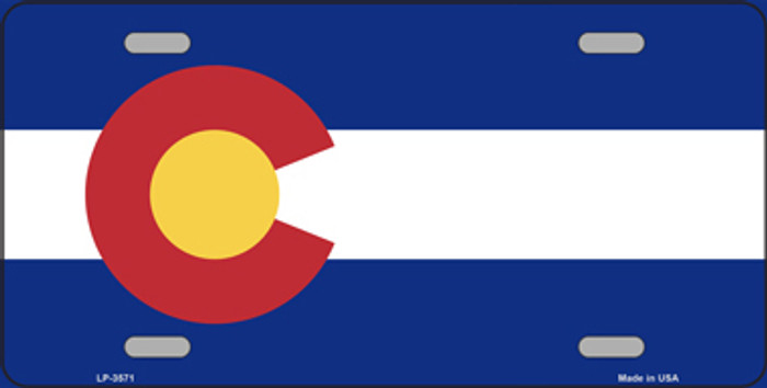 Colorado State Flag Metal Novelty License Plate Tag LP-3571