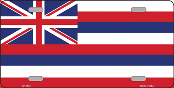Hawaii Flag State Flag Metal Novelty License Plate Tag LP-3575