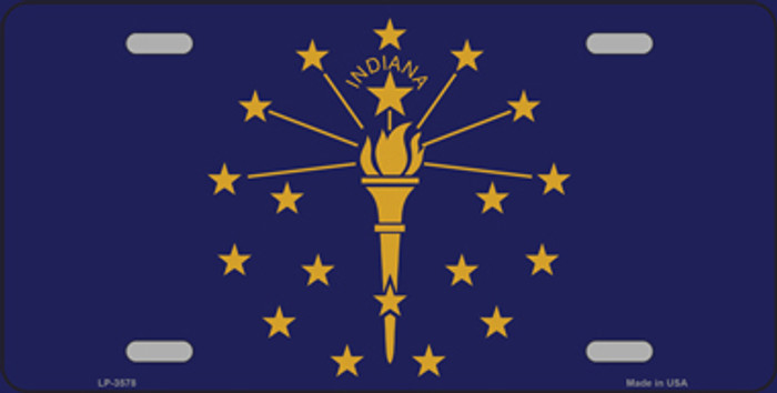 Indiana State Flag Metal Novelty License Plate Tag LP-3578