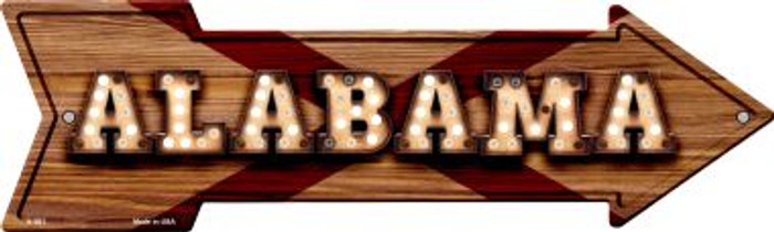 Alabama Bulb Lettering With State Flag Novelty Arrows A-581