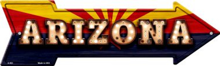 Arizona Bulb Lettering With State Flag Novelty Arrows A-583