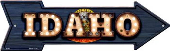 Idaho Bulb Lettering With State Flag Novelty Arrows A-592