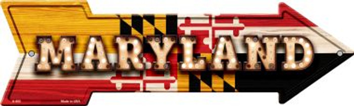Maryland Bulb Lettering With State Flag Novelty Arrows A-600