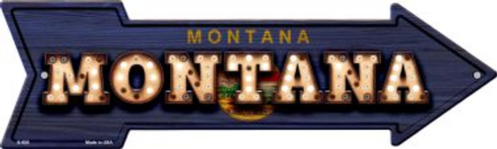 Montana Bulb Lettering With State Flag Novelty Arrows A-606