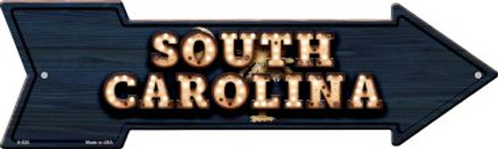 South Carolina Bulb Lettering With State Flag Novelty Arrows A-620