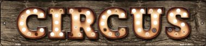 Circus Bulb Lettering Small Street Sign K-827