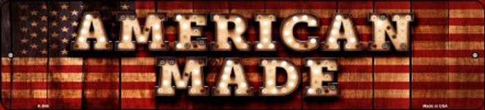 American Made Bulb Lettering American Flag Mini Street Sign K-846