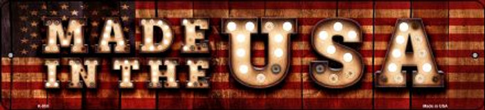 Made in the USA Bulb Lettering American Flag Small Street Sign K-850