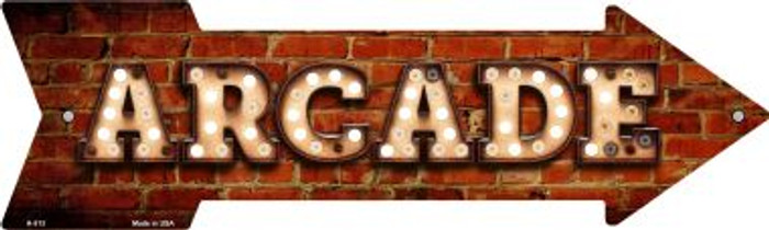 Arcade Bulb Letters Novelty Arrow Sign A-513