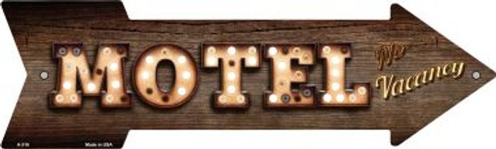 Motel Bulb Letters Novelty Arrow Sign A-516