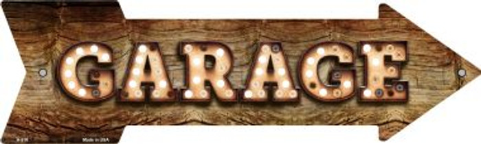 Garage Bulb Letters Novelty Arrow Sign A-518