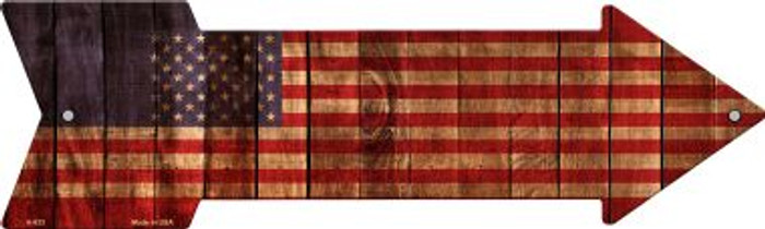 American Flag Novelty Arrow Sign A-633