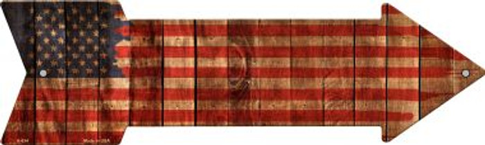 American Flag Painted Novelty Arrow Sign A-634