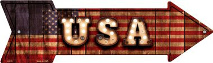 USA Bulb Letters American Flag Novelty Arrow Sign A-635