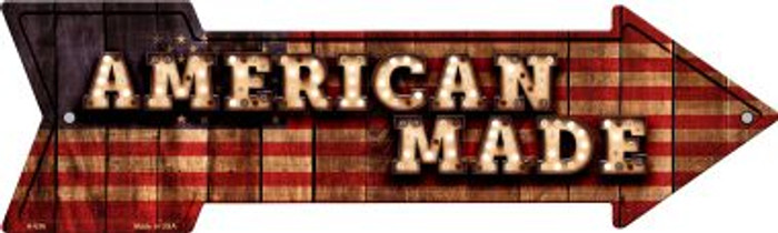 American Made Bulb Letters American Flag Novelty Arrow Sign A-636