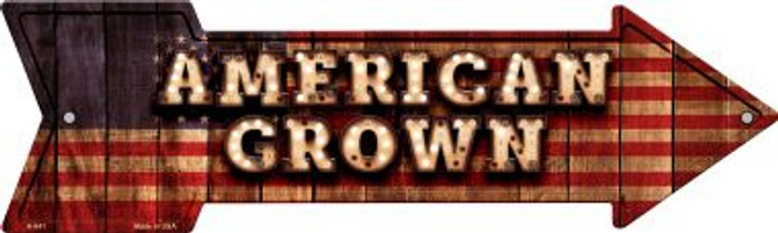 American Grown Bulb Letters American Flag Novelty Arrow Sign A-641