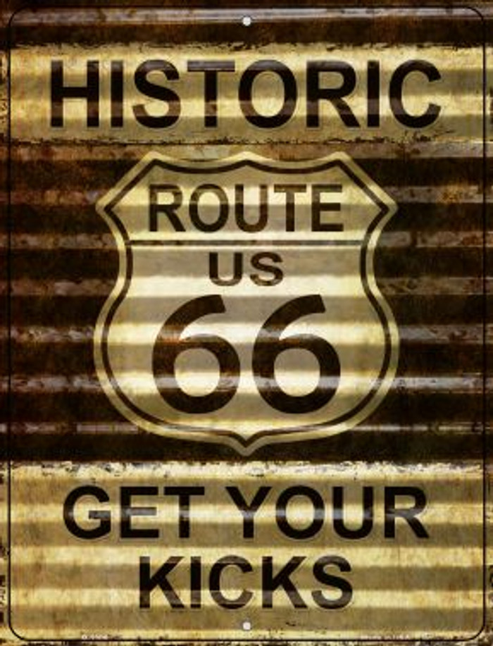 Historic Route 66 Novelty Parking Sign P-2306