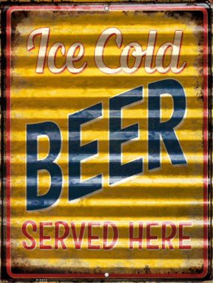 Ice Cold Beer Served Here Novelty Parking Sign P-2313